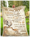 BLANKET - DEER - To my Wife - I Choose Both