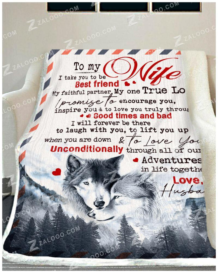 BLANKET - WOLF - To My Wife - I Take You