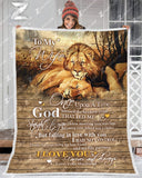BLANKET LION To my Wife God Blessed The Broken Road - Zalooo.com Custom Wall Art Canvas