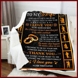 Blanket - Firefighter - To My Wife - Thank You - yenyenstore