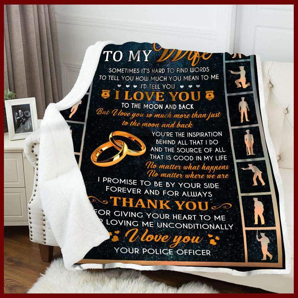 Blanket - Police - To My Wife - Thank You - yenyenstore