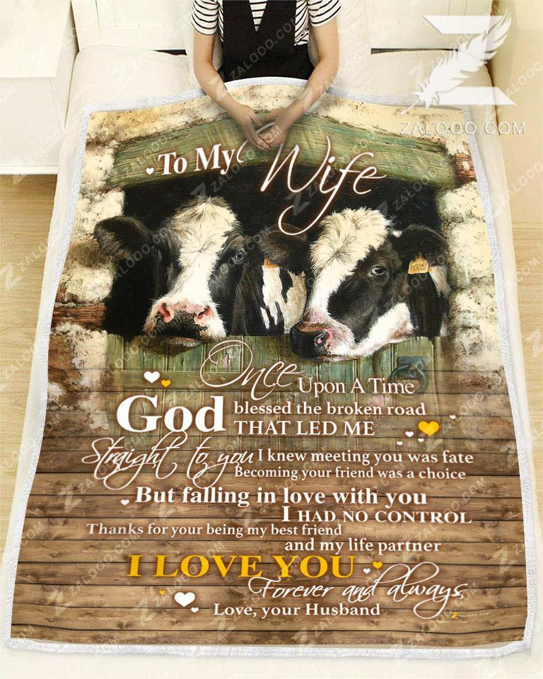 BLANKET COW To my Wife God Blessed The Broken Road Ver2