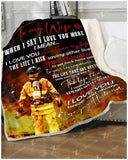 BLANKET FIREFIGHTER To My Wife When I Say I Love You More - Zalooo.com Custom Wall Art Canvas