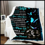 Blanket To My Wife Love made us - Zalooo.com Custom Wall Art Canvas