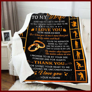 Blanket - Veteran - To My Wife - Thank You - yenyenstore