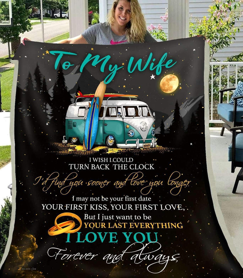 BLANKET - CAMP - To my wife - I wish I could turn back the clock - yenyenstore