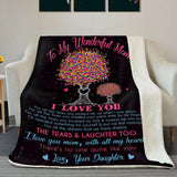BLANKET - To my wonderful mom - There's no one quite like you - yenyenstore