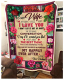 BLANKET To my Wife When I tell you I love you - Zalooo.com Custom Wall Art Canvas