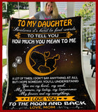 Blanket - To My Daughter - To the moon and back - yenyenstore