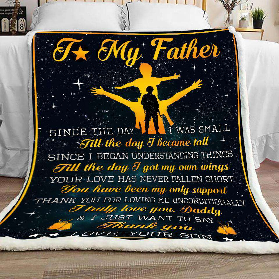 Blanket - Veteran - To my Dad - I truly love you - yenyenstore