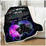 Fleece Blanket - I LOVE YOU MORE - yenyenstore