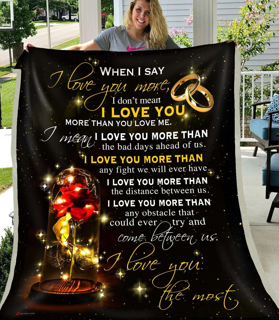 PP - BLANKET - Rose - I Love You The Most - yenyenstore