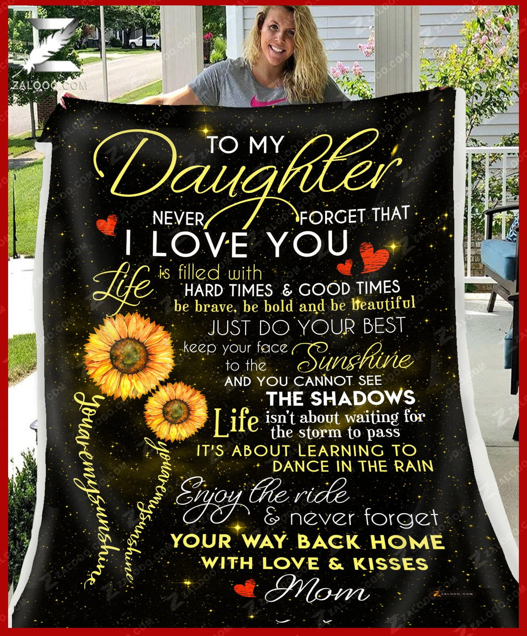 BLANKET Daughter (Mom) You are my sunshine