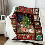 BLANKET - Cats - Christmas