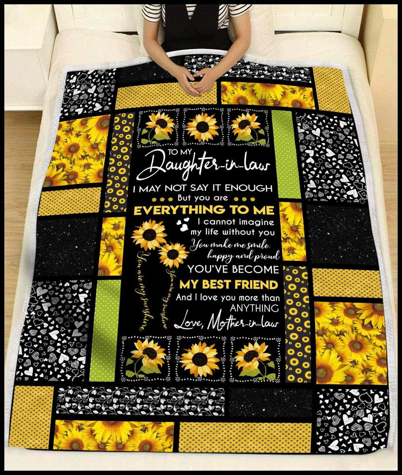 Blanket To My Daughter in law My best friend - Zalooo.com Custom Wall Art Canvas