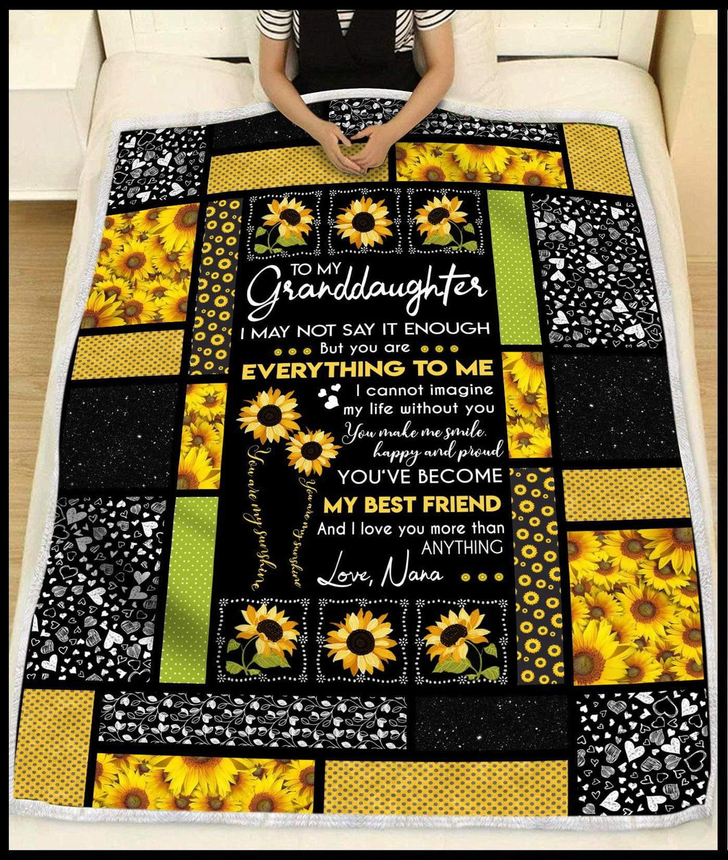 Blanket To My Granddaughter My best friend (nana) - Zalooo.com Custom Wall Art Canvas
