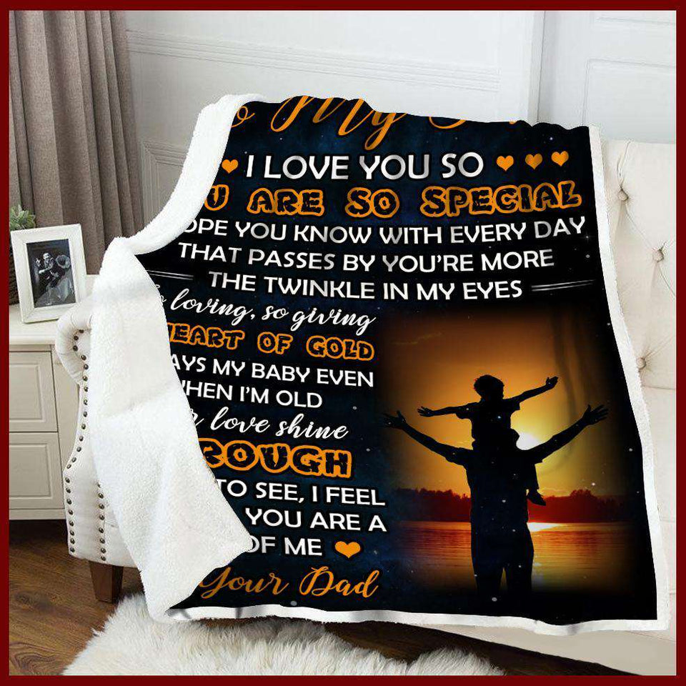 Blanket - To my son - You are so special - yenyenstore