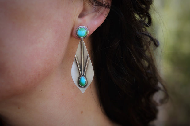Sonoran Gold Turquoise + Reclaimed Sterling. Stud & Earring Jacket