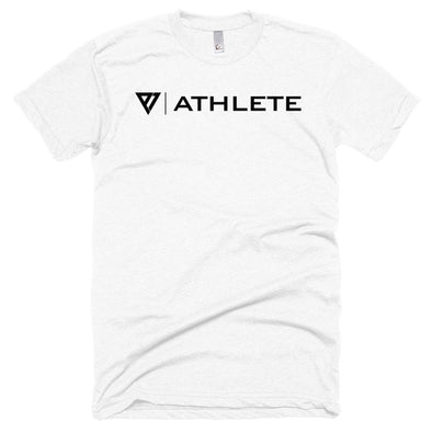 P1 Athlete Apparel Black Logo - Unisex Poly-Cotton Short Sleeve Crew Neck