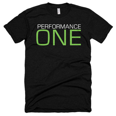 P1 Athlete Apparel Performance ONE Tee - Unisex Poly-Cotton Short Sleeve Crew Neck