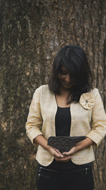 Juco Jacket with handmade flower