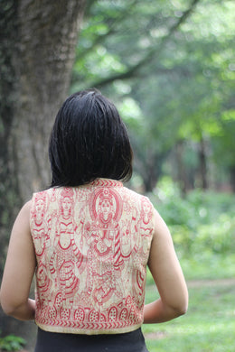 Kalamkari art Juco Jacket