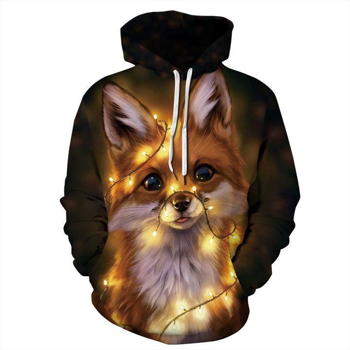 3D digital fox pattern sweatshirt