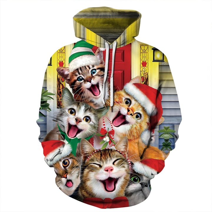 3D cat theme series sweatshirt