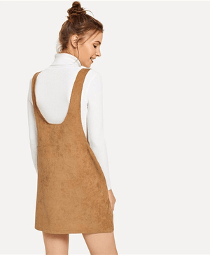 Loose Corduroy Ladies Pinafore