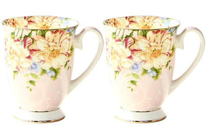 Bone China Ceramic Floral Mug