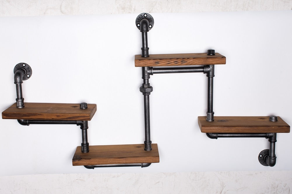 Industrial Pipe Wall Mounted Shelf