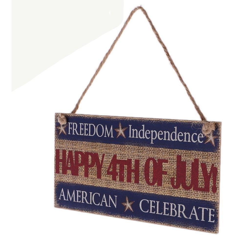 4th Of July Hanging Plaque 2 Pcs.