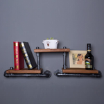 French Industrial Loft-style Wrought Iron Shelf Bookcase
