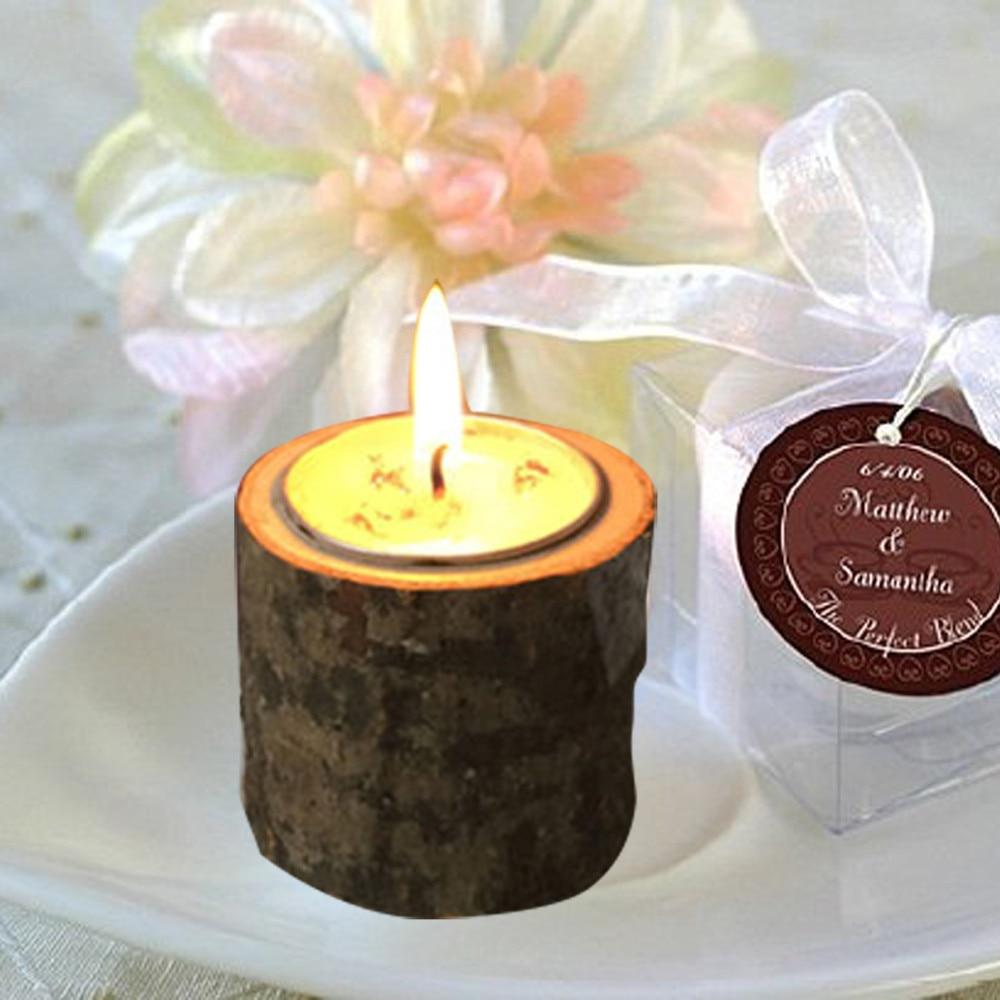 Candle Holders - Rustic Wooden Candle Holder Tea Light Holder