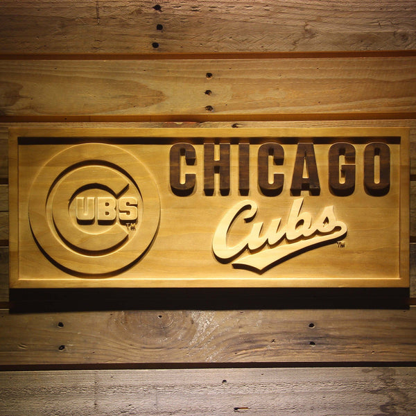Chicago Cubs 3d Wooden Sign