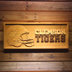 Clemson Tiger 3D Wooden Sign
