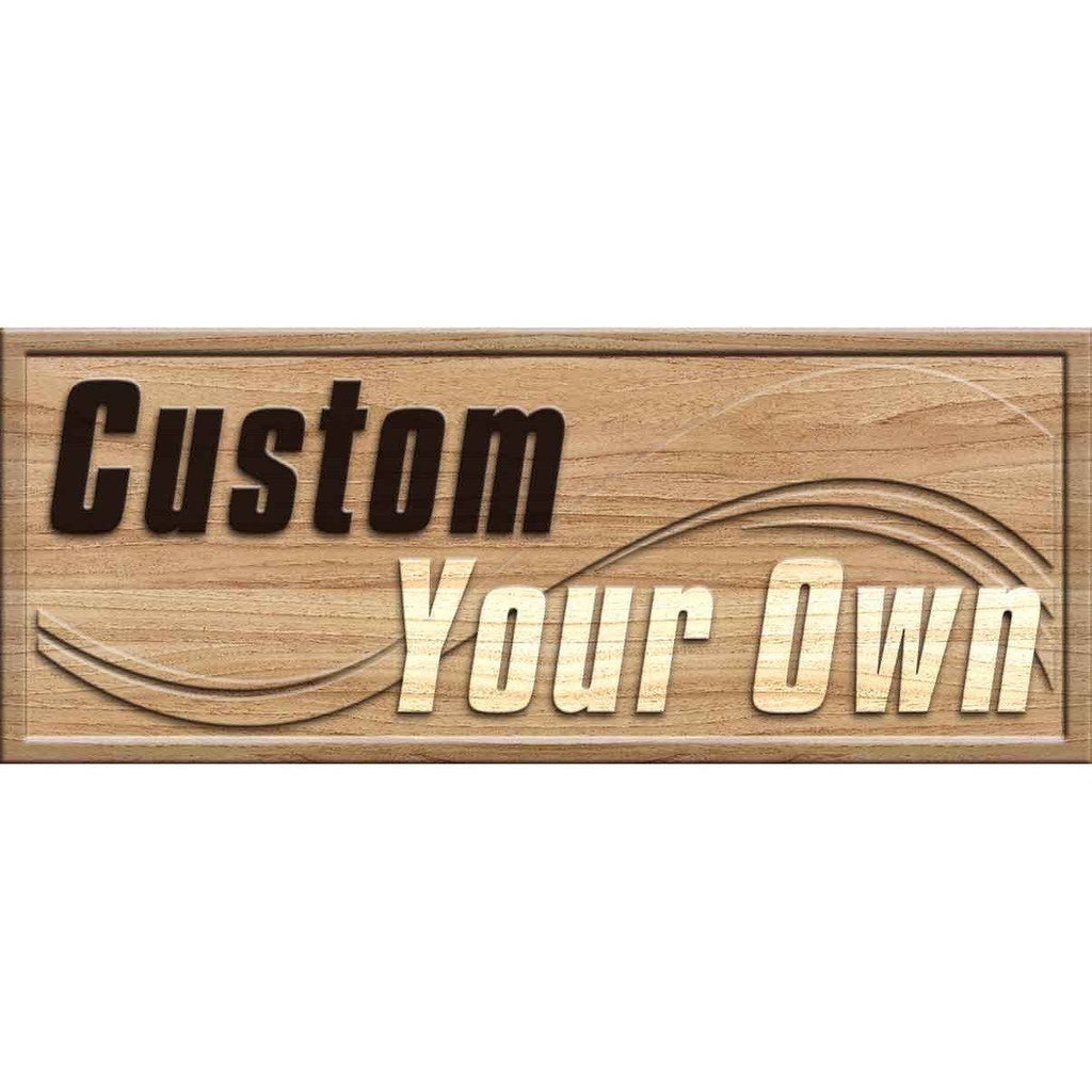 CUSTOM 3D Wooden Bar Sign