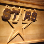Dallas Stars 3D Wooden Sign