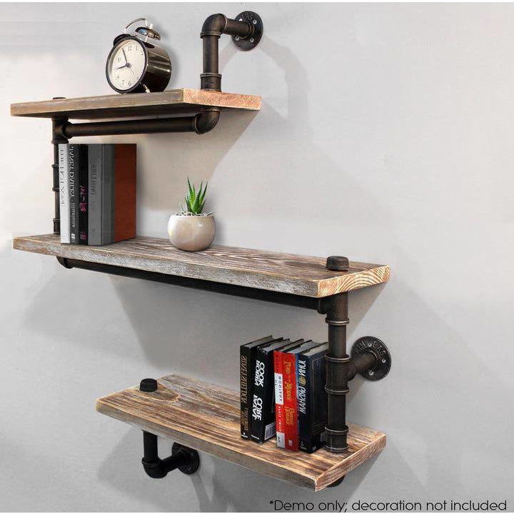 DIY Industrial Rustic Urban Iron Pipe Wall Shelf