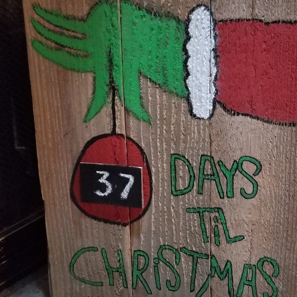 Grinch Chalkboard Christmas Countdown