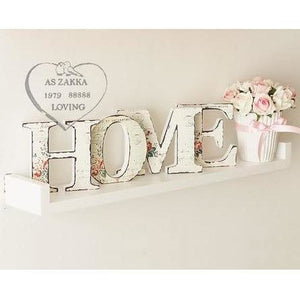 HOME Letter Wooden Home Decor