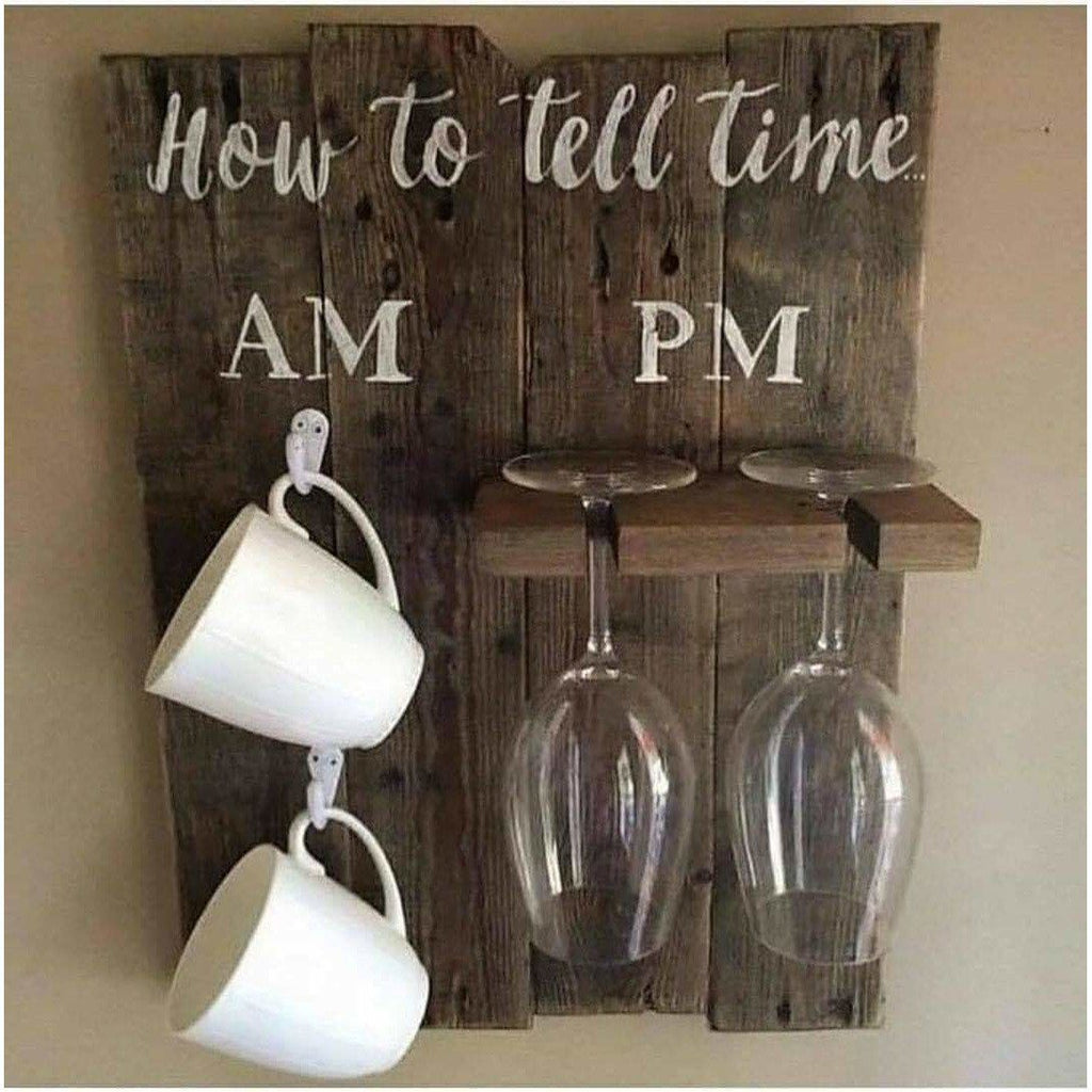 How To Tell Time Wine & Coffee Cup Holder