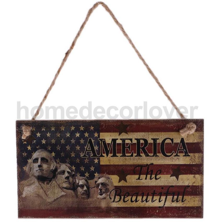 Independence Day Wooden Plaque
