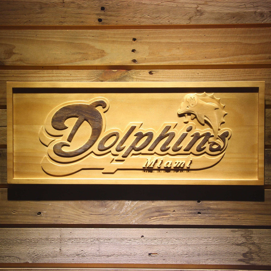 Miami Dolphins 3D Wooden Sign