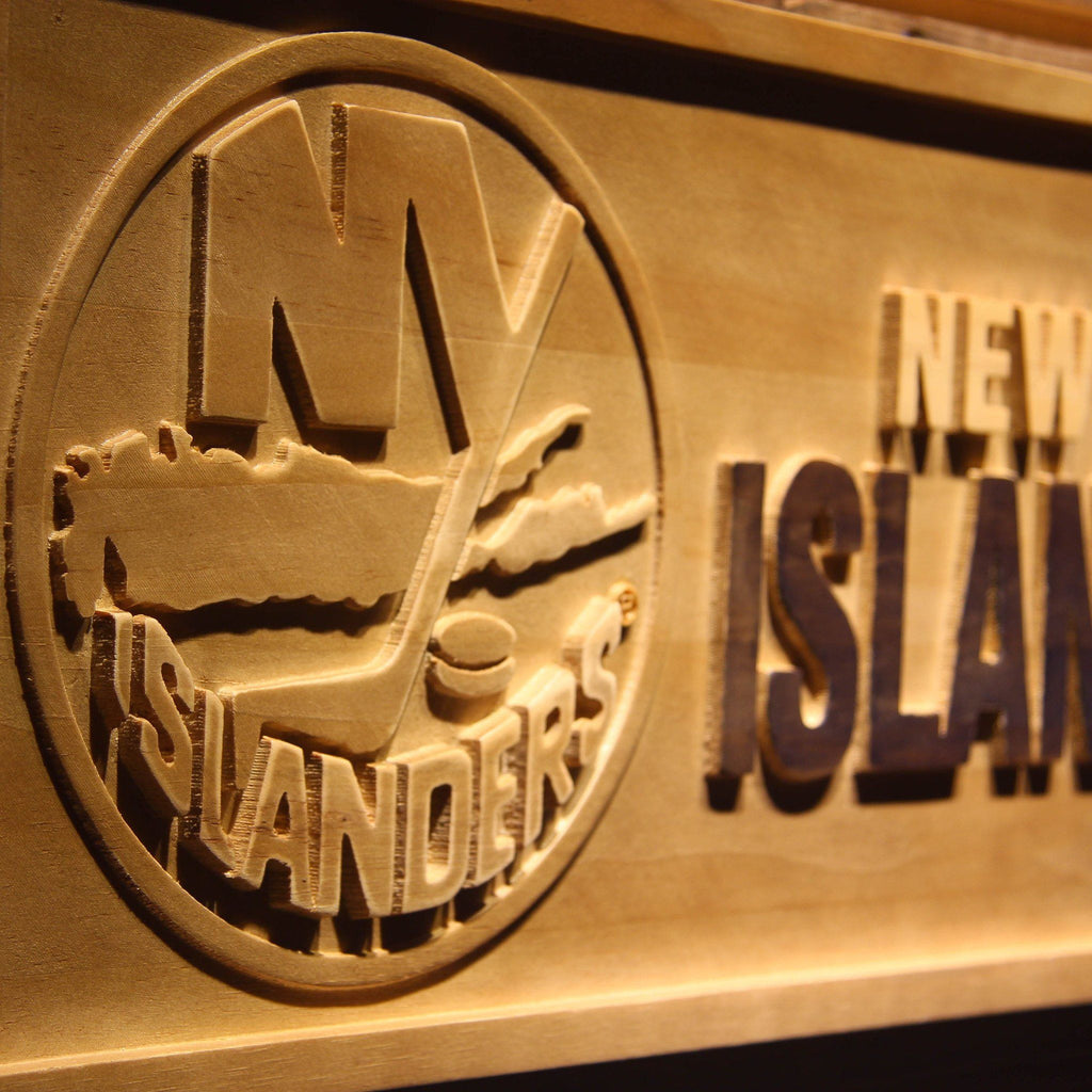 New York Islanders 3D Wooden Sign