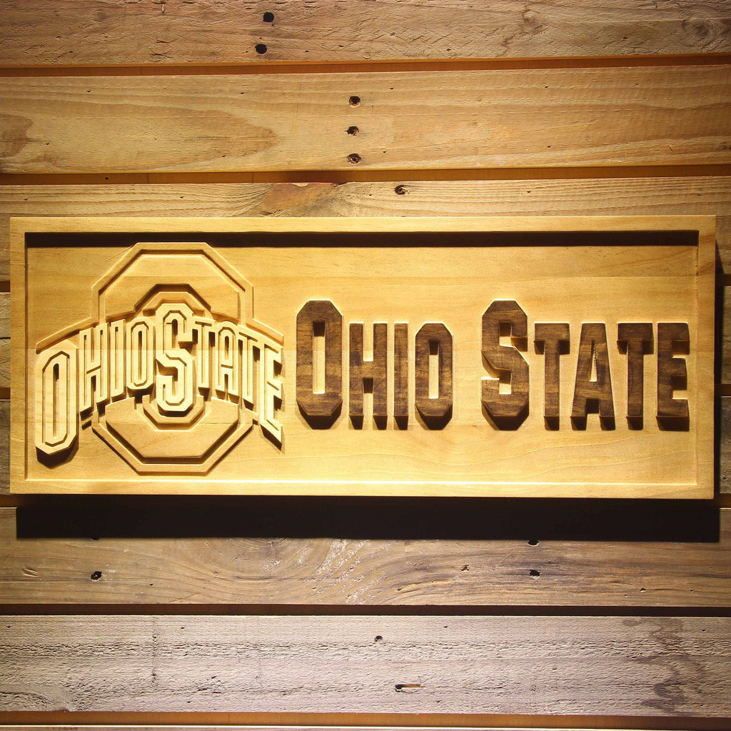 Ohio State 3D Wooden Bar Sign