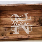 Pallet Wood Kitchen Table Personalized Centerpiece