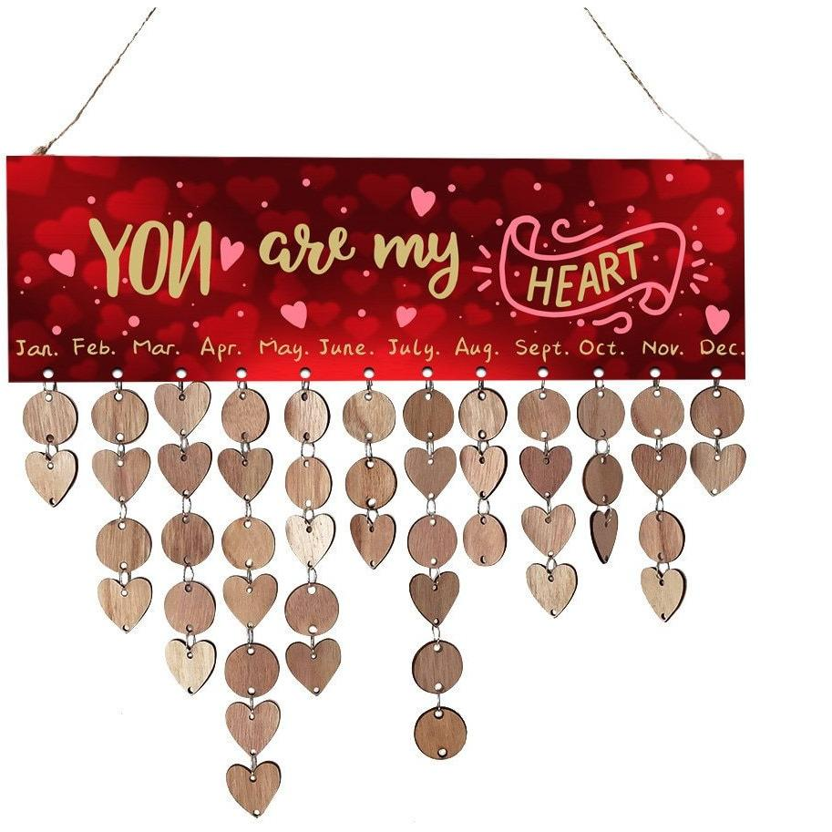 Plaques & Signs - DIY Calendar Valentine's Day Reminder Sign
