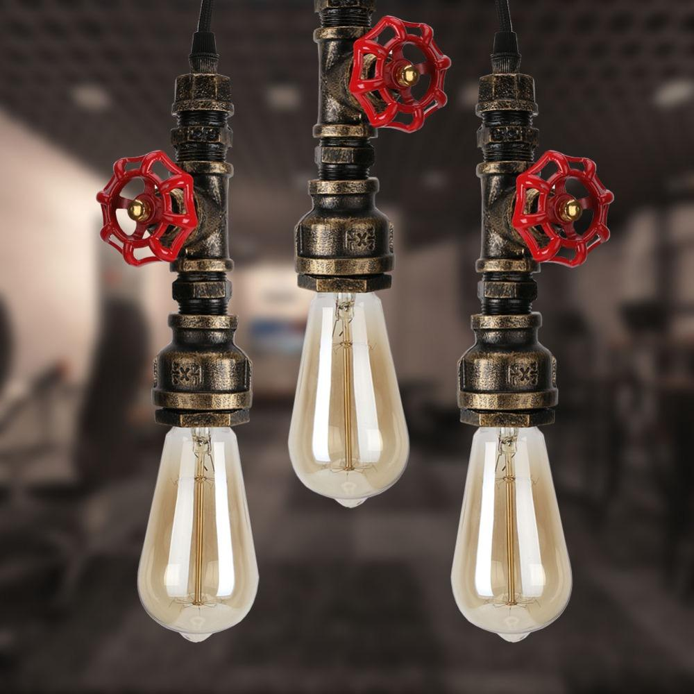 Rustic Industrial Hanging Water Pipe Pendant Lights