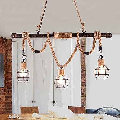 Rustic Retro Water Pipe Hemp Rope Lamp